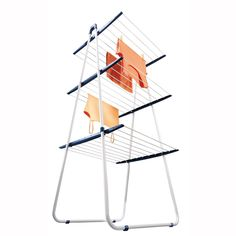 Leifheit Steel Pegasus 180 Plus Mobile 18 Meters Clothes Airer and Drying Rack