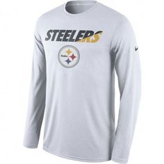 93e0c95aa Picture of Pittsburgh Steelers Nike Legend Staff Practice Long Sleeve T- Shirt - White