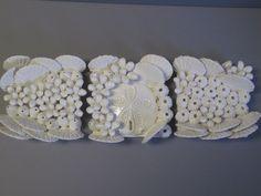 Coastal Ceramics Sea Shell Reef Wall Sculpture- Art Tile Set - coral,  barnacles, and crab - Ocean wall, Beach, coastal, reef, wall art, sea by CoastalCeramics on Etsy https://www.etsy.com/listing/183633617/coastal-ceramics-sea-shell-reef-wall
