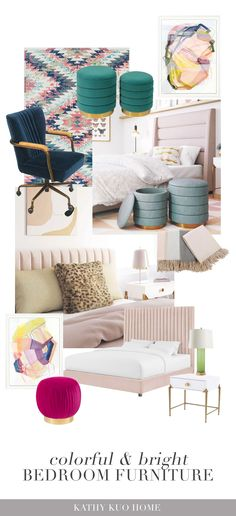 Teen Girl Bedrooms, Teen Bedroom, Teen Furniture, Bedroom Furniture, Luxury Decor, Furniture Collection, Style Guides, Kids Room, Vibrant