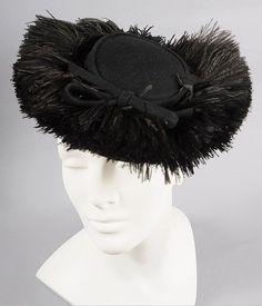 Ostrich Plumes! Vintage 30s - 40s TILT HAT *Karo, NY from mairemcleod on Ruby Lane