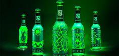 Une bouteille de bière qui se gratte pour la décorer avec les dessins de votre choix