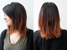 Ombre-I might try this one day. I'm always afraid ombre would end up looking like I dyed/bleached my hair and then my natural color grew out, but this looks good, like it was done on purpose and not out of laziness.
