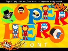 on sale today & tomorrow - super hero font & numbers