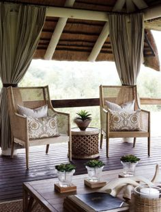 South African Bush Lodge Decoration