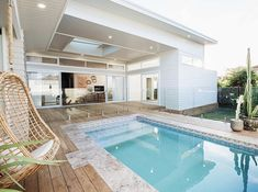 Home refurbishment can completely give a facelift to an otherwise old-looking house. Best Secrets Home Renovation Remodel Your Living Space Ideas. Home Renovation, Home Remodeling, Living Pool, Outdoor Living, Living Fence, Backyard Beach, Home Modern, Pool Houses, House Goals