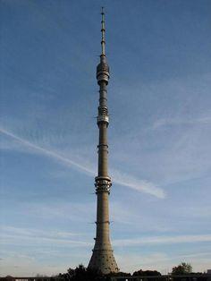 """Russia, Moscow, Tower """"Ostankino"""", 1967  Architect: Nikolai Nikitin"""