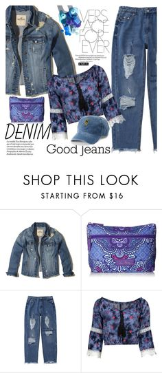 """""""All Denim, Head to Toe"""" by vanjazivadinovic ❤ liked on Polyvore featuring Hollister Co., Vera Bradley, SO, polyvoreeditorial, alldenim and zaful"""
