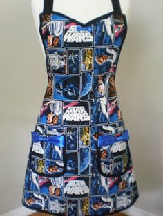Star Wars Apron Limited Quantity by HauteMessThreads on Etsy, $50.00