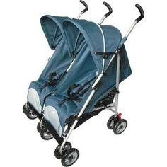 Carrinho de Bebê Gêmeos Burigotto Duetto Gray, pratico carrinho de gêmeos com medida frontal reduzida, permitindo a passagem em portas a parti de 80 cm.