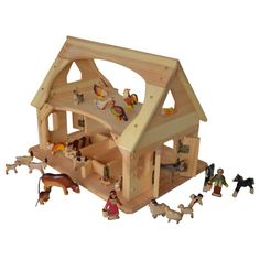 The Saltwater Farm Ultimate Play Set is our largest set. It includes our biggest Farm/Stable and so many beautiful animals your little one will never be at a loss for Imaginative farm fun. Each one of the wooden animals (23 in all!) is handcrafted in the Republic of Georgia and