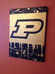 Purdue University Splatter Painting by CharlieJeanArt on Etsy, $45.00