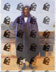 Cheikh Ibra Fall with Cheikh Amadou Bamba overlay print