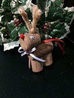Bouchon de vin Reindeer ornament par MerChilla sur Etsy