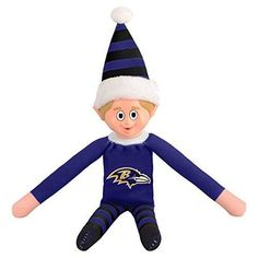 14 NFL Ravens Team Elf Football Themed Team Color Logo Mens Collectible Toy Sweatshirt Santa Hat Man Cave Decoration Christmas Holiday Gift Fan Purple Black Gold Polyester