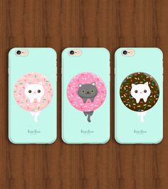 Donut Cat,Cat iPhone Case,Donut iPhone Case,iPhone 6 case,iPhone 6s Case,iPhone 6 Plus Case,Cat,Donut,iPhone 5 Case,Donut Case,Cat Case,S6