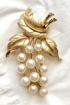 Purple and White Enamel With Gold Metal Finish SALE ORCHID Flower Brooch and Earring Set Pearls LOVELY!