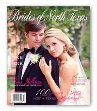 Emily Clarke Events couple featured as cover of Brides of North Texas - Order Magazine | Brides of North Texas  for more images go to emilyclarkeevents.com