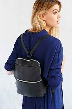 Leather Zip Mini Backpack - Urban Outfitters