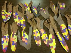 Indian Corn Kindergarten Art Project - I could use the packing material for the husks