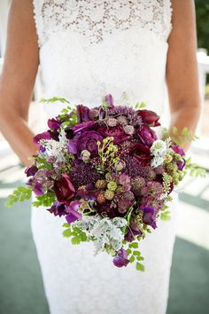 Sophisticated Floral - bouquet of berries and ranunculus and astrantia