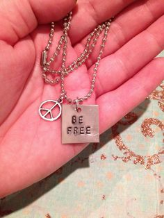 Be Free & Peace charm Necklace. $11.00, via Etsy.