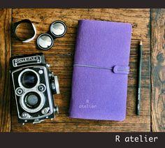 $17 | Midori Traveler's Notebook | Felt Journal Cover | Standard Size Starter Kit #midoritravelersnotebook #journalnotebook