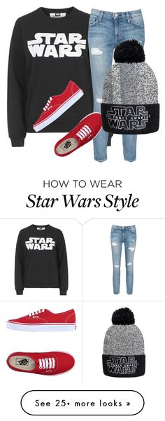 """Star Wars"" by daniellacottoncandy11 on Polyvore featuring Tee and Cake, Current/Elliott and Vans"