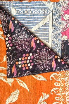 Vintage Kanthina sari quilt.None are the same and they're all beautiful...