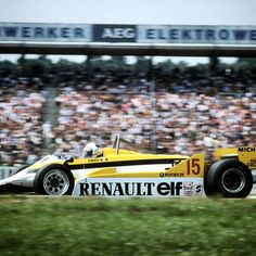 There were many firsts in Alain Prost's career. Here he is claiming his maiden…
