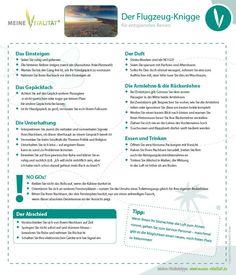 Der Flugzeug-Knigge: MEINE VITALITÄT erklärt Ihnen, was Sie für eine entspannte und stressfreie Flugreise beachten müssen und wie Sie sich am besten verhalten.