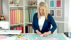 Cindy Cloward, from Riley Blake Designs, demonstrates different ways to cut, piece, and attach binding to a quilt. Topics covered include: fabric grain, cutt...