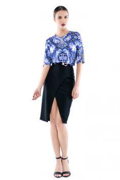 Forget-Me-Not / Niezapominajka - bluzka T-shirt w niebieskie kwiaty Forget, Ballet Skirt, Skirts, Fashion, Tunic, Moda, Tutu, Fashion Styles, Skirt