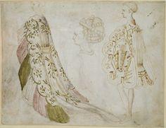 Antonio (Pisano) Pisanello (by 1395 - 1455), Recto: Studies of Costume    Ashmolean