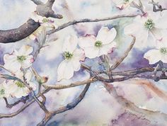 Watercolor, Nancy Barry Watercolor Paintings Greer, SC Landscapes - Mountains