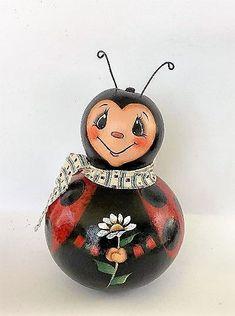 Hand Painted Gourds, Ladybug, Ladybugs