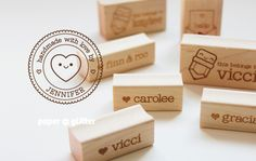 Cute personalized stamps by @paperglitter