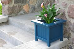 """DIY Square Beadboard Garden Planter...Supply List:1 - 2x2 @ 4 feet long,  1 - 1x2 @ 8 feet long, 1 - 1x3 @ 8 feet long,  1-1/4"""" pocket hole screws, Brad nails, and Wood glue.    Click picture for link to directions."""