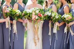 Beautiful mix of hand tied flowers.   Photo by Matt Lusk Photography www.engagingeventsobx.com #engagingeventsobx #outerbankswedding