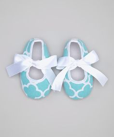 Another great find on #zulily! Aqua Quatrefoil Mary Jane by Tutu AND Lulu #zulilyfinds