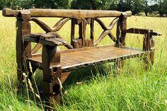 Teak Ox Cart 160cm Chunky Garden Bench
