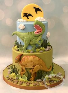 T-rex T Rex cake - amalia Dinasour Birthday Cake, 5th Birthday Cake, Dinosaur Birthday Party, Dinosaur Cakes For Boys, Dinosaur Cake Toppers, Dinosaur Dinosaur, T Rex Cake, Dino Cake, Bolo T Rex