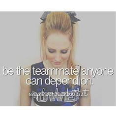 A true Cheerleader :) #cheer #depend