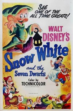 Snow White and the Seven Dwarfs Movie Poster...would you like to have a vintage or a reproduction po