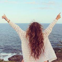 Long hair and beach sweater's :)
