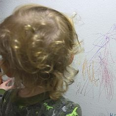 The Day We Saw He Drew On The Walls...We Got Him an Easel