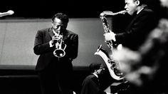 "tornandfrayed: ""Miles Davis performing with Wayne Shorter on saxophone and Herbie Hancock on piano in Berlin, Germany in Credit: Corbis/JazzSign. Jazz Artists, Jazz Musicians, Miles Davis, 20th Century Music, Good Music Quotes, Wayne Shorter, Good Raps, Herbie Hancock, Old School Music"