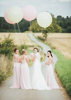Pale Pink & Lace Farm Wedding with HUGE pastel balloons Creative Wedding Photography, Wedding Photography Poses, Photography Ideas, Wedding Dress Styles, Wedding Colors, Wedding Attire, Wedding Flowers, Farm Wedding, Dream Wedding