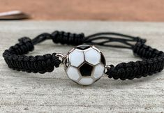 Girls Soccer Adjustable Bracelet – World Soccer News Soccer Pro, Girls Soccer, Soccer Cleats, Soccer Players, Soccer Ball, Live Soccer, Soccer News, Cute Bracelets, Beaded Bracelets