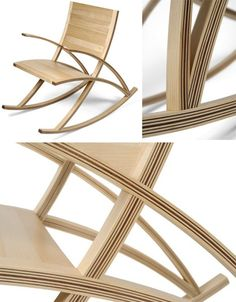 Seat Back, Rocker On: Modern Curved-Wood Rocking Chair Chair Design, Furniture Design, Steam Bending Wood, How To Bend Wood, Parsons Dining Chairs, Curved Wood, Bent Wood, Wood Joinery, Cool Chairs